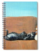 Sleeping Cat Spiral Notebook