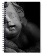 Sleeping Cherub #1bw Spiral Notebook