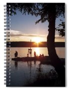 Sleeping Giant Sunset Spiral Notebook
