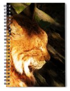 Sleeping Lynx  Spiral Notebook