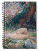 Sleeping Nymph Spiral Notebook