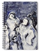Sleepy Penguins Spiral Notebook