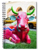 Cow Parade N Y C 2000 - Sleepy Time Cow Spiral Notebook