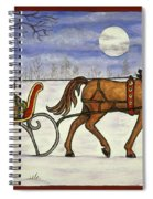 Sleigh Ride With Grandpa Spiral Notebook