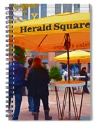 Slice Of Life Nyc-herald Square Spiral Notebook