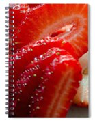 Sliced Strawberries Spiral Notebook