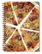 Sliced Tortilla Pizza Spiral Notebook