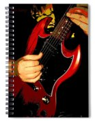 Red Gibson Guitar Spiral Notebook