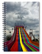 Slide Me To The Moon Spiral Notebook
