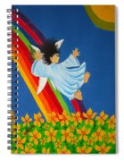 Sliding Down Rainbow Spiral Notebook