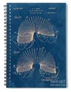 Slinky Toy Blueprint Spiral Notebook