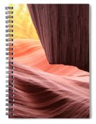 Slot Canyon Sun Spiral Notebook