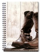 Slouch Cowboy Boots Spiral Notebook