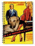 Sloughi Art - Love Is My Profession Movie Poster Spiral Notebook