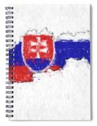 Slovakia Painted Flag Map Spiral Notebook