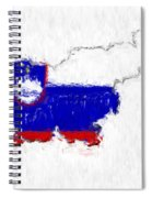 Slovenia Painted Flag Map Spiral Notebook