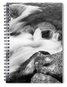 Slow Flow Black And White Spiral Notebook