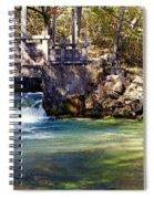 Sluice Gate At Alley Spring Spiral Notebook