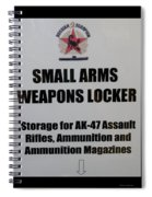 Small Arms Signage Russian Submarine Spiral Notebook