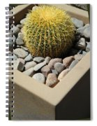 Small Barrel Cactus In Planter Spiral Notebook