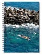 Small Boat Off Nassau Shore Spiral Notebook