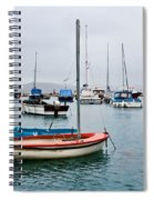 Small Boats At Lyme Regis Harbour Spiral Notebook
