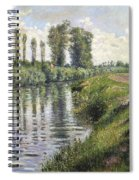 Small Branch Of The Seine At Argenteuil Spiral Notebook