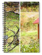 Small Cabin In Stereo Spiral Notebook