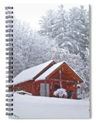 Small Cabin In The Snow Spiral Notebook
