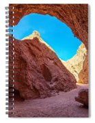 Small Canyon In Chile Spiral Notebook