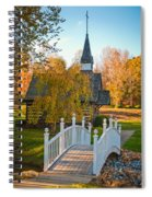 Small Chapel Across The Bridge In Fall Spiral Notebook