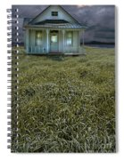 Small Cottage In Storm Spiral Notebook