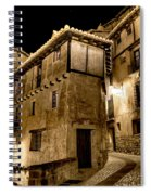 Small House In Albarracin At Night Spiral Notebook