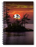 Small Island At Sunset Spiral Notebook
