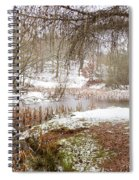 Small Lake In The Snow Spiral Notebook