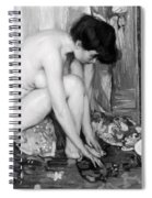 Small Nude Painting By Albert Worcester C. 1910 Spiral Notebook