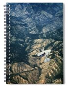 Small Plane Flying Over Mountains Spiral Notebook