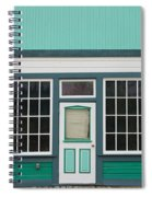 Small Store Front Entrance To Green Wooden House Spiral Notebook