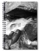 Small Stream Smoky Mountains Bw Spiral Notebook