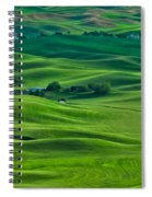 Small Town In The Lush Green Hills Spiral Notebook