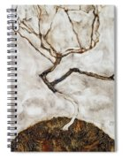 Small Tree In Late Autumn Spiral Notebook