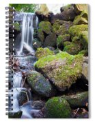 Small Waterfall In Marlay Park Dublin Spiral Notebook