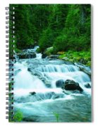 Small Waterfall On The Paradise River Spiral Notebook