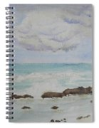 Small Waves Breaking Near Rocks Spiral Notebook