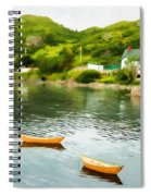 Small Yellow Boats Spiral Notebook