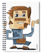 Smart Guy Doodle Character Spiral Notebook