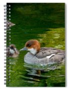Smew With Ducklings Spiral Notebook