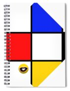 Smile De Stijl Spiral Notebook