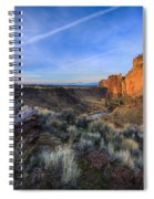 Smith Rock At Sunrise Spiral Notebook