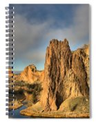 Smith Rock Foggy Morning Spiral Notebook